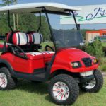 red golf cart for sale