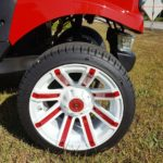 Used Cart Red-White-Wheel