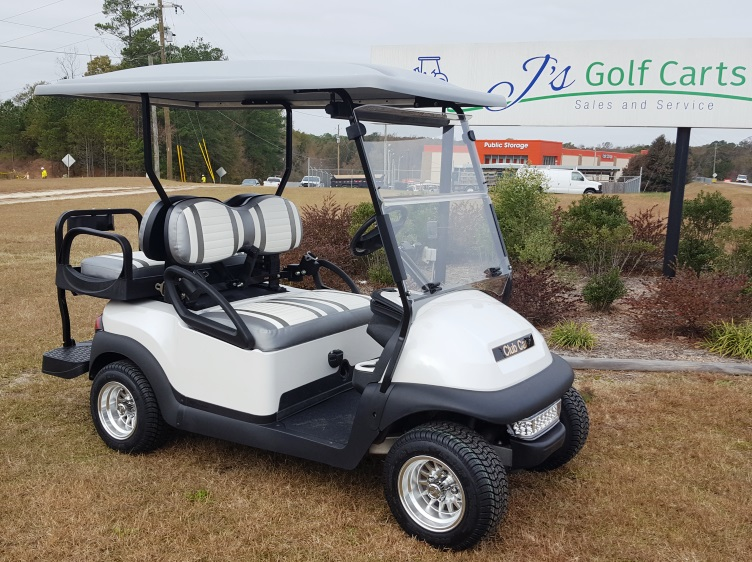 Used White Golf Cart