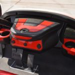 Red Golf Cart Console