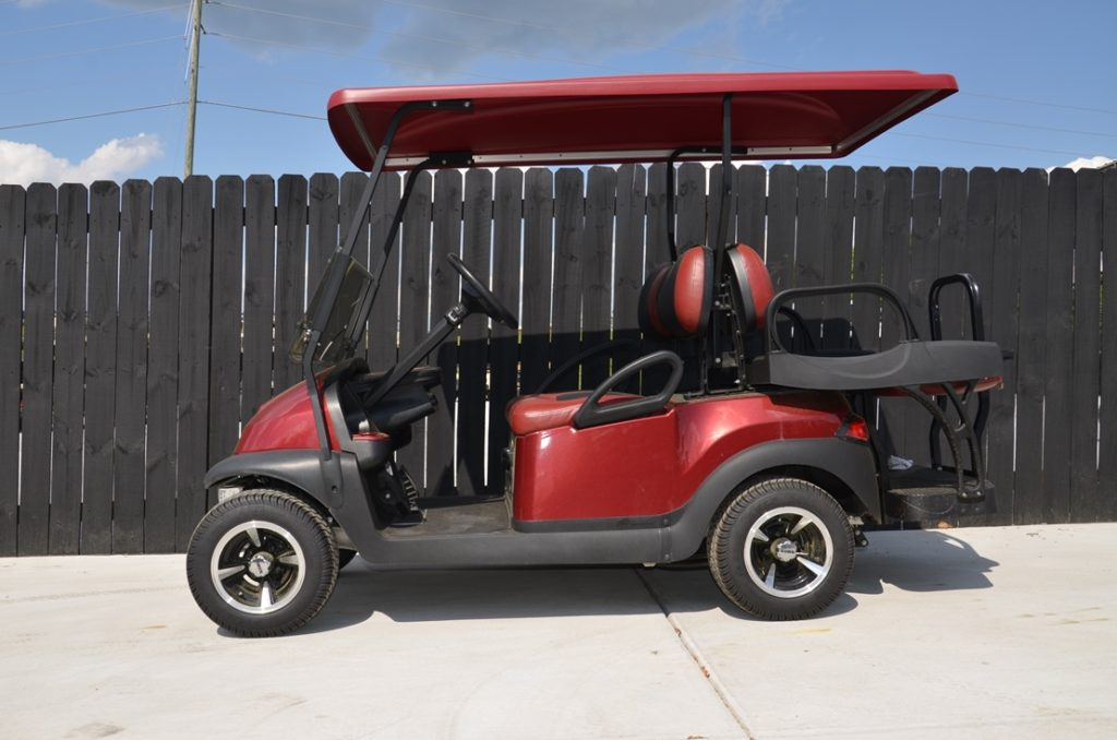 Burgundy Golf Cart for Sale Main