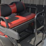 Burgundy Golf Cart for Sale Rear Seats 2
