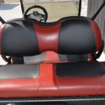 Burgundy Golf Cart for Sale Rear Seats