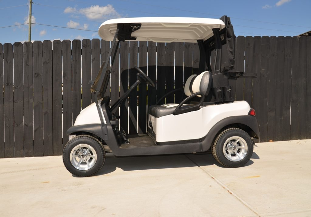 Pearl White Golf Ready Cart for Sale