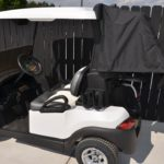 Pearl White Golf Cart Rain Cover Open