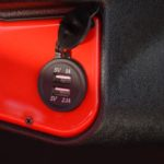 Red Golf Cart USB