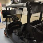 Black Golf Ready Cart for Sale Side
