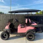 Pink Lifted Golf Cart for Sale Main