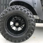 Camo Lifted Golf Cart for Sale Wheels