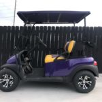 Purple Golf Cart for Sale Side