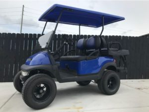 Blue Lifted Golf Cart for Sale Main