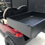 Lifted Burgandy Golf Cart for Sale Box