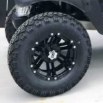 Lifted Burgandy Golf Cart for Sale Wheels