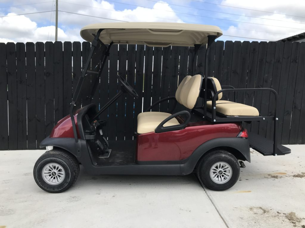 Maroon Golf Cart for Sale Main