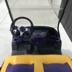 Purple & Yellow Golf Cart for Sale Dash