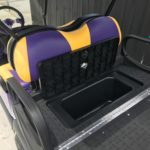 Purple & Yellow Golf Cart for Sale Rear