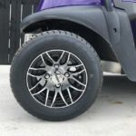 Purple & Yellow Golf Cart for Sale Wheel