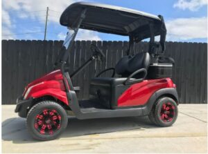 J's Golf Carts Red Cart for Sale