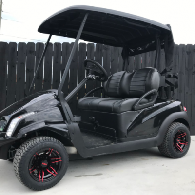 Golf Ready Black Cart for Sale Main