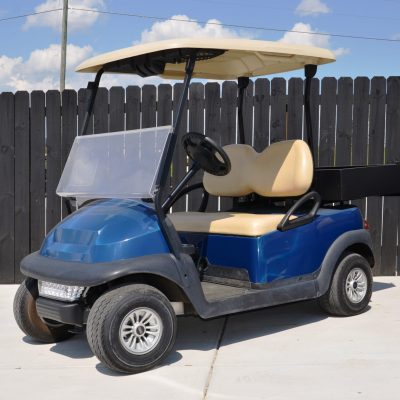 Navy Golf Cart with Utility Box for Sale