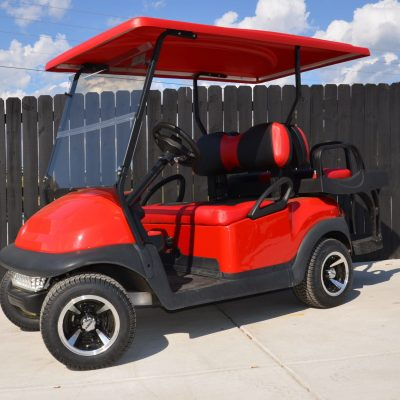 Red-Black Golf Cart for Sale Main