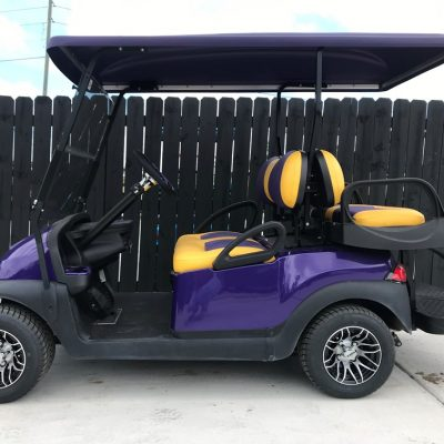 Purple & Yellow Golf Cart for Sale Main